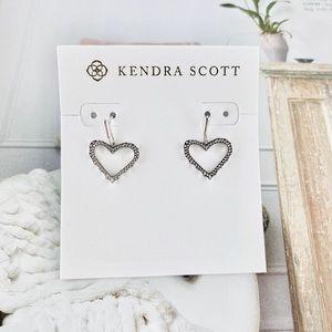 Kendra Scott Sophee heart silver earrings